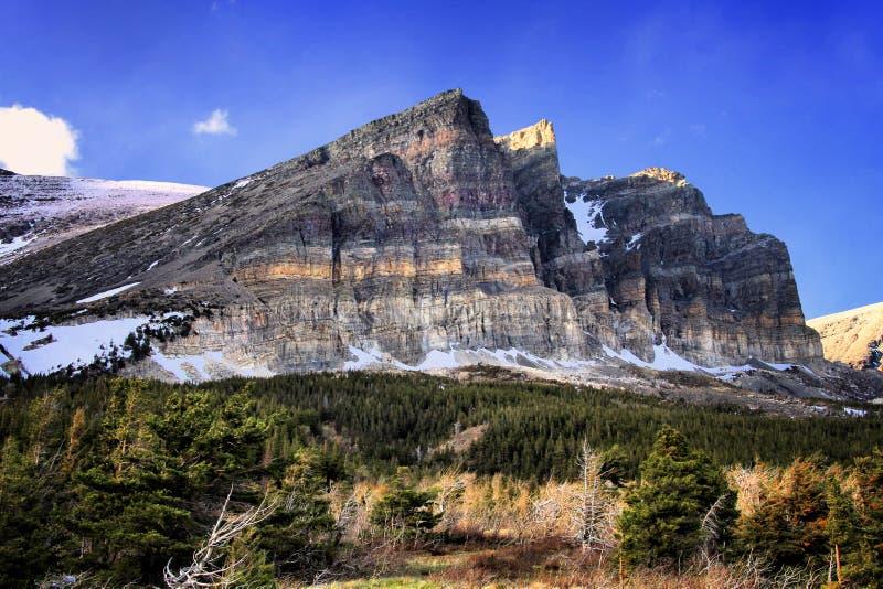 La région de beaucoup de glaciers du parc national de glacier, Montana photo stock