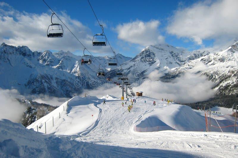 La région de ski photographie stock