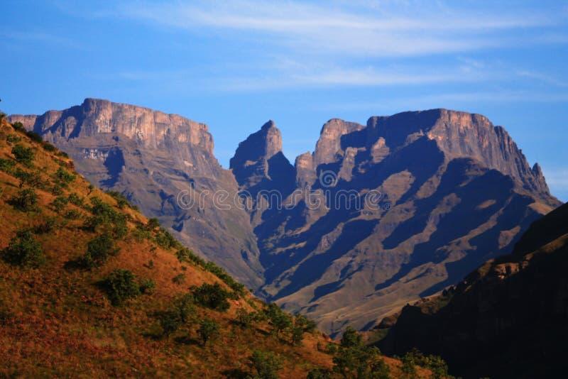 La région sauvage de Drakensberg images libres de droits