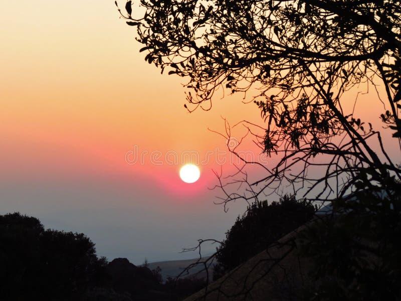 La région sauvage de Drakensberg image libre de droits