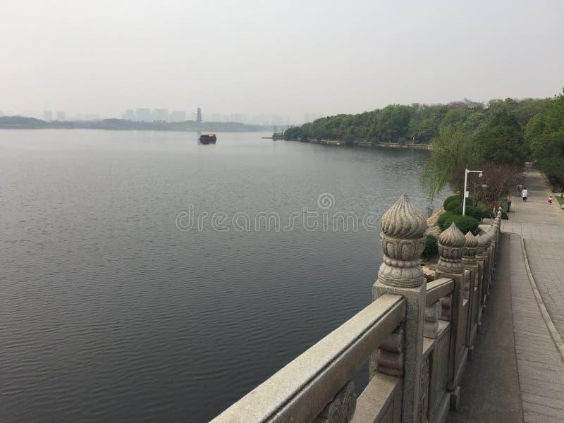 La région scénique de lac elephant à Nan-Tchang images stock