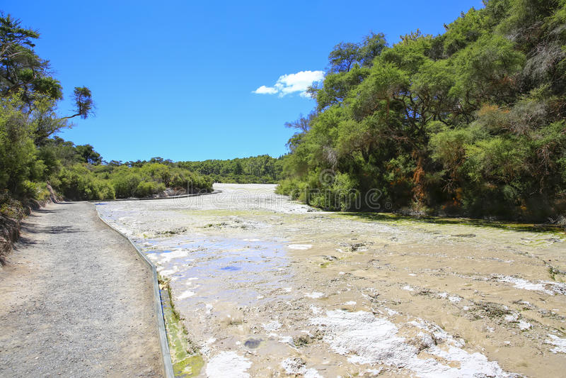 La région thermique de Wai-O-Tapu, Nouvelle-Zélande photos stock