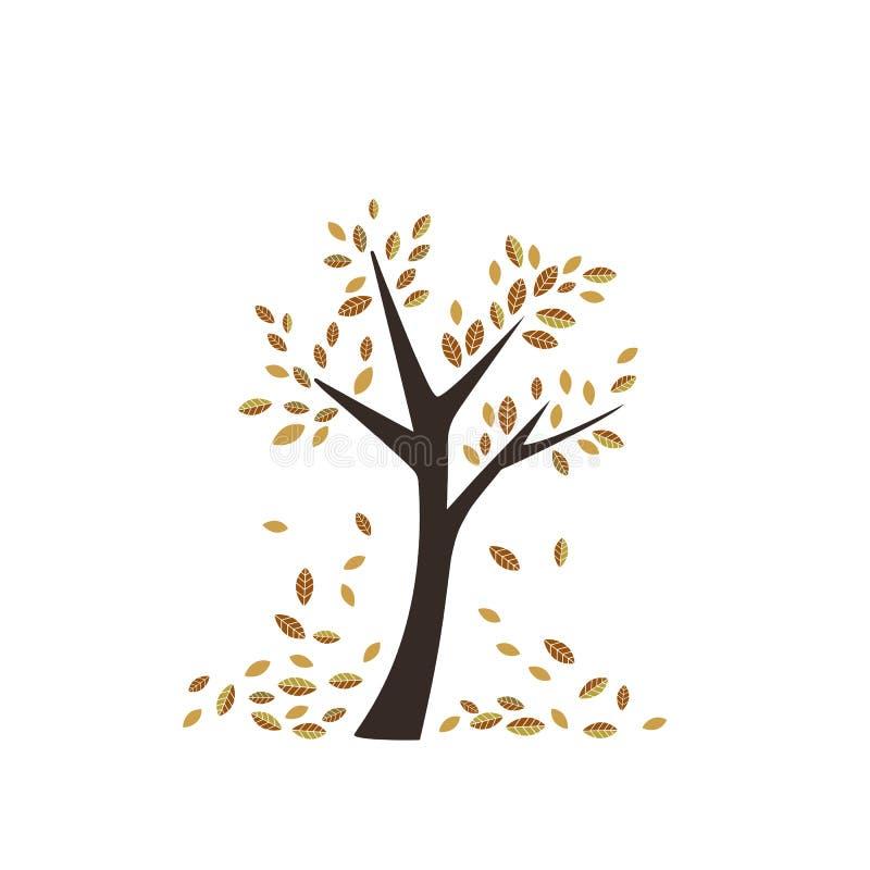 La répétition orange-clair foncée d'automne de chute de feuilles de saison d'ornement de modèle à la mode pour le textile vêtx su illustration libre de droits