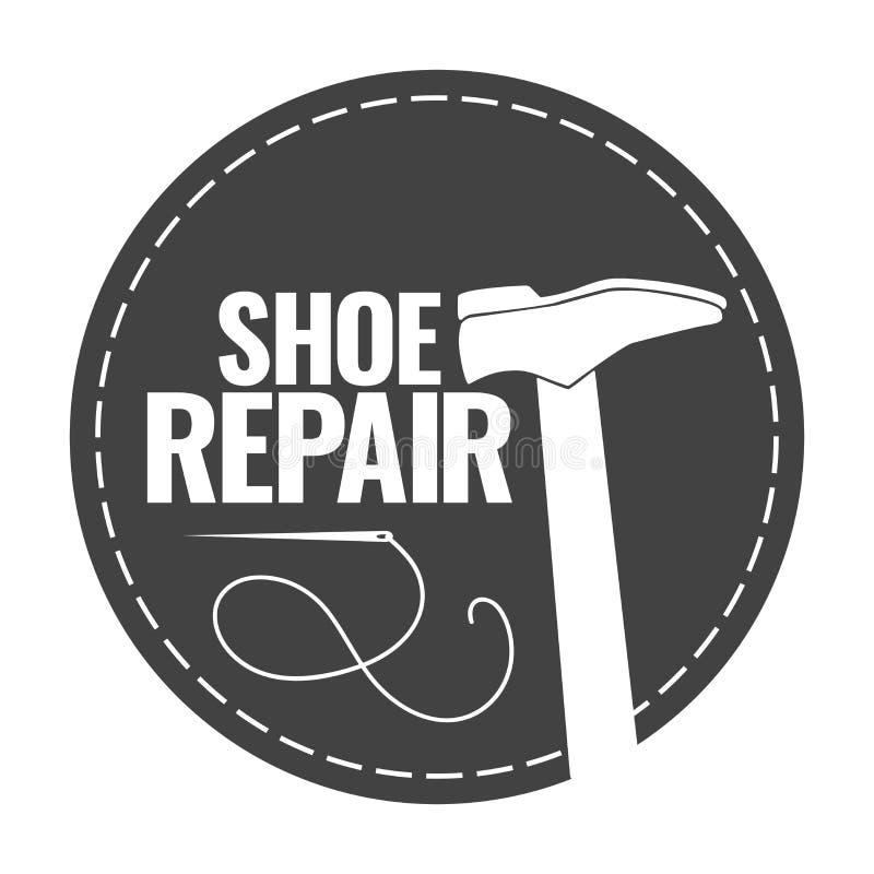 La réparation de chaussure illustration stock