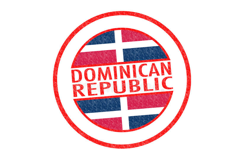 La république dominicaine illustration libre de droits