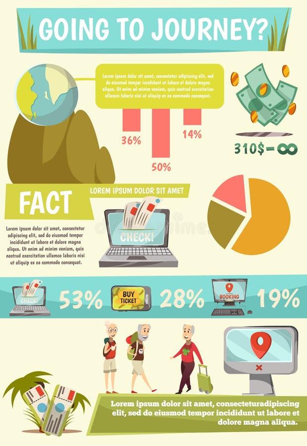 La réservation en ligne entretient Infographics illustration de vecteur