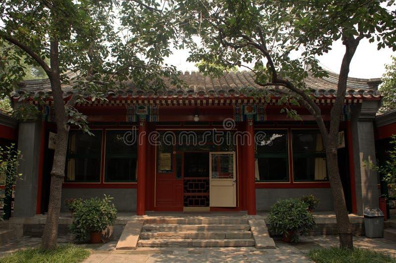 La résidence du chanteur d'opéra de Mei Lanfang, Pékin, Chine photos stock
