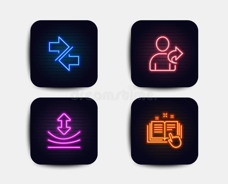 La résilience, synchronisent et se réfèrent des icônes d'ami Signe technique de documentation Vecteur illustration de vecteur