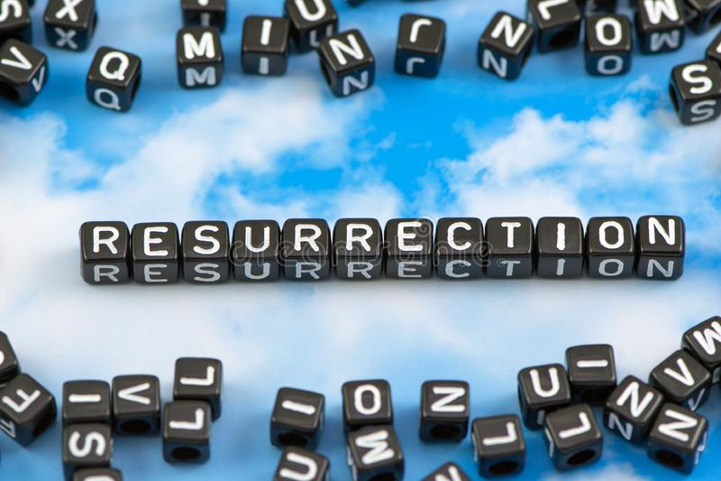 La résurrection de mot photo stock