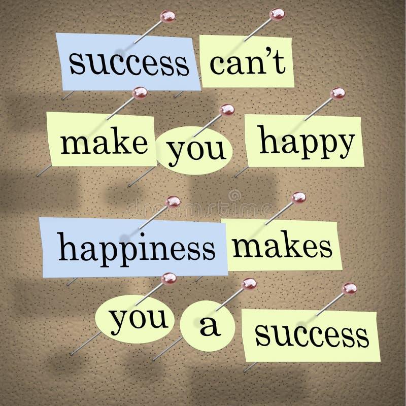 La réussite ne peut pas vous rendre heureux illustration stock