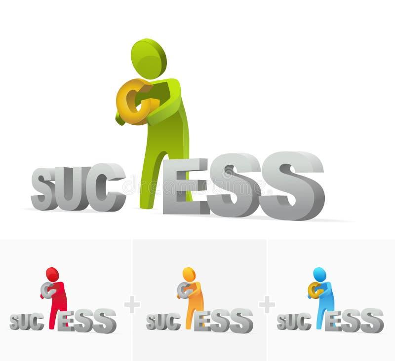 La réussite prend l'effort illustration de vecteur