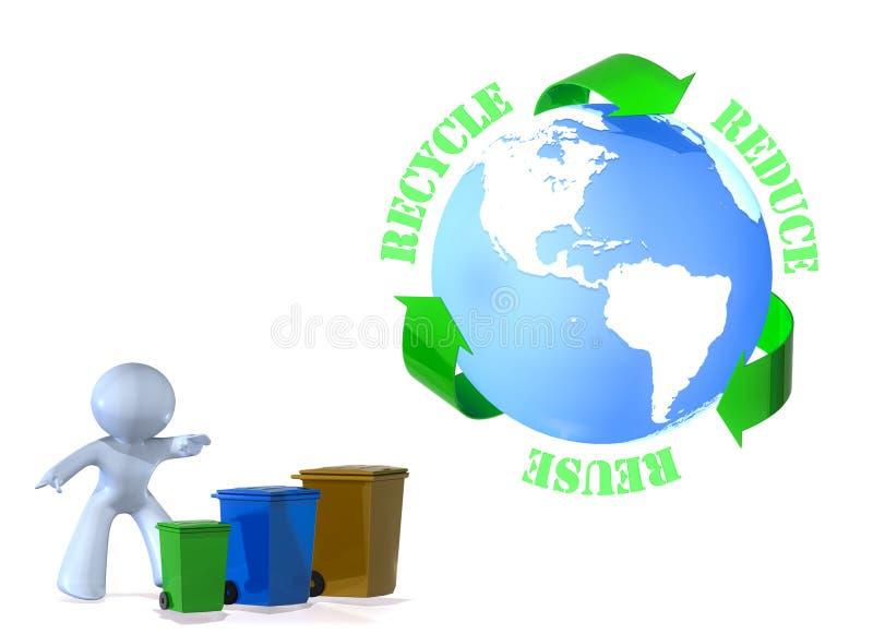 La réutilisation, réutilisent, réduisent ! illustration de vecteur