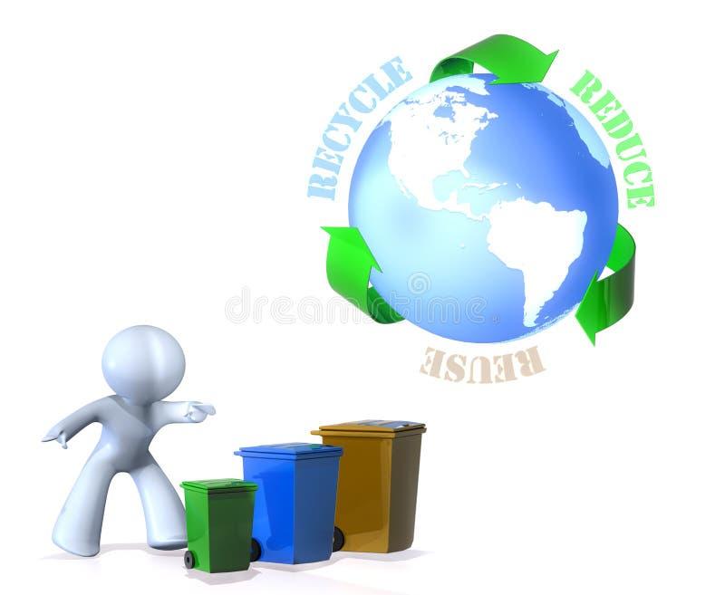 La réutilisation, réutilisent, réduisent ! illustration libre de droits