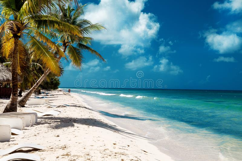 La R?publique Dominicaine, cana de Punta, ?le de Saona - Mano Juan Beach photos stock