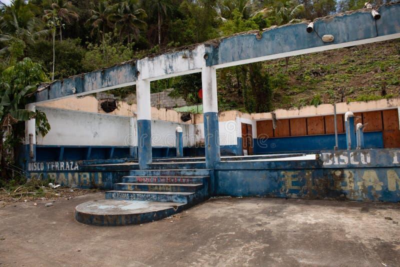 La R?publique Dominicaine, le 10 avril 2019 voyage par la route de //conduisant en R?publique Dominicaine : paysages des Cara?bes photo stock