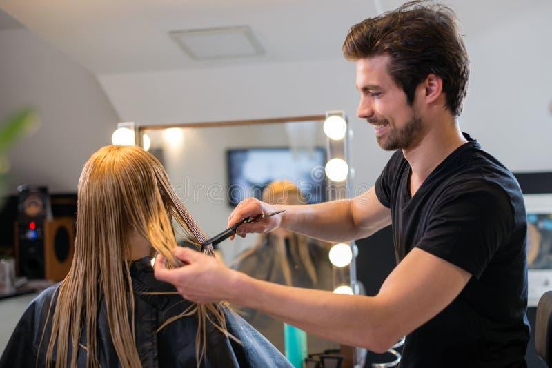 La raboteuse de cheveux balaye des cheveux images stock
