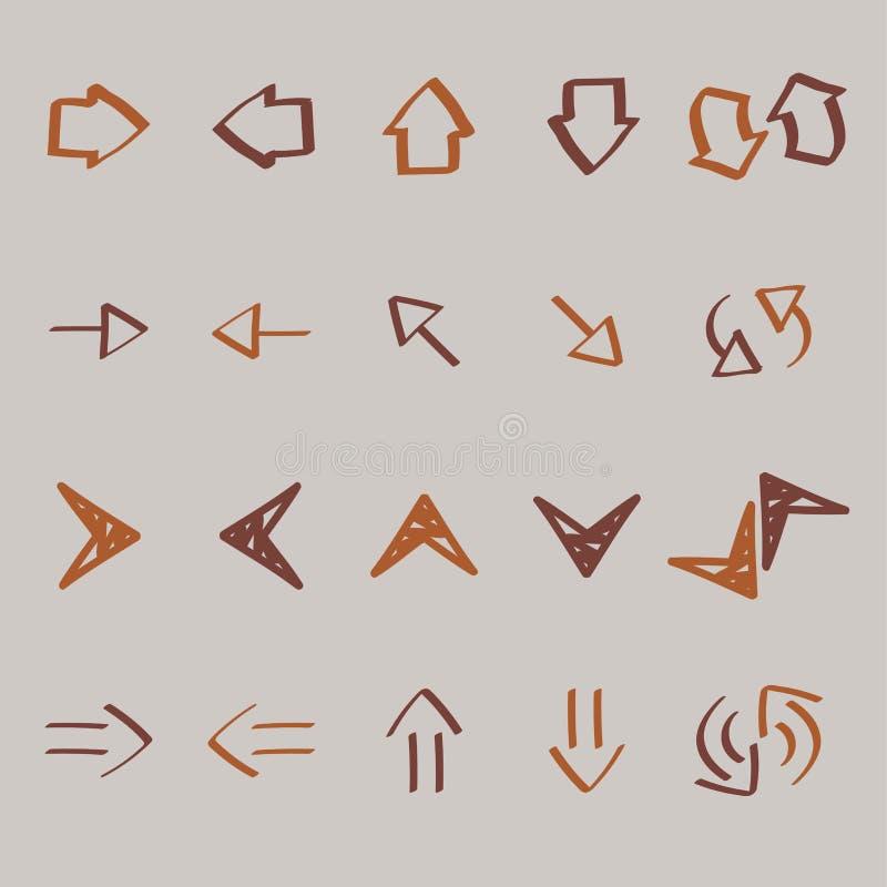La raccolta della freccia scarabocchia l'illustrazione illustrazione di stock