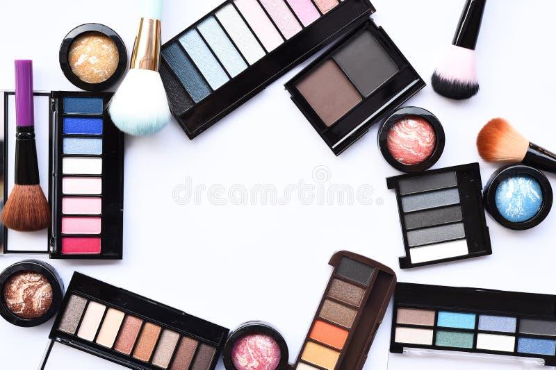 La raccolta di compone e cosmetico fotografia stock libera da diritti
