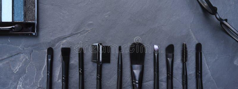 La raccolta di compone e cosmetico fotografia stock