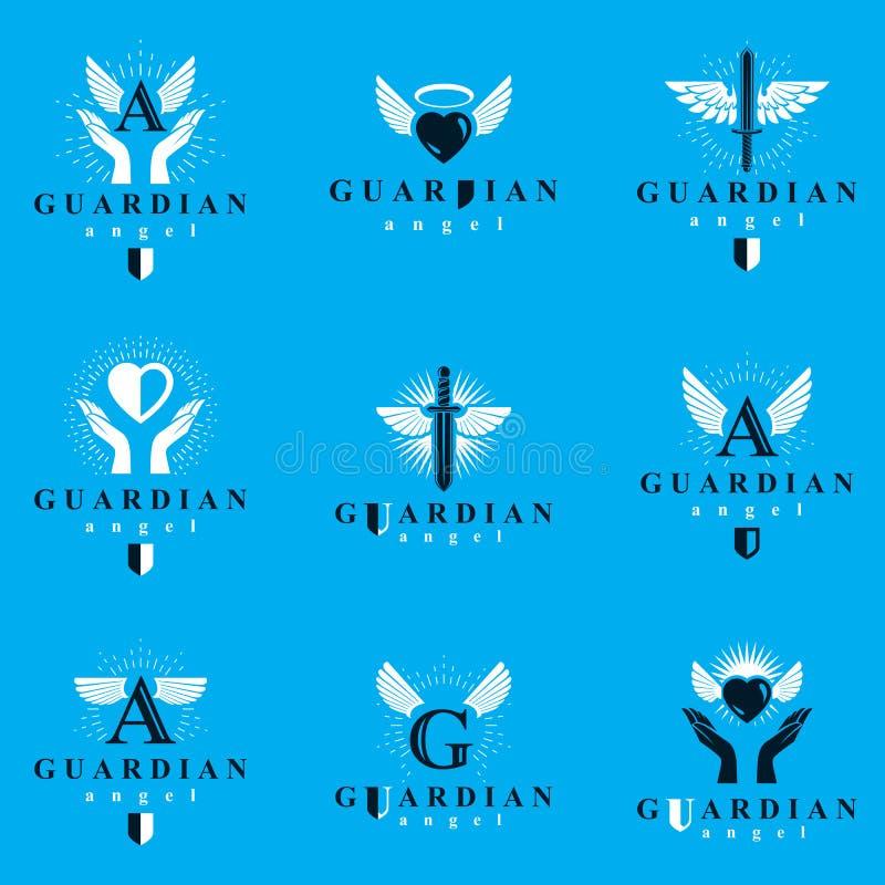 La raccolta grafica dei logotypes di vettore di Spirito Santo, può essere usata dentro royalty illustrazione gratis
