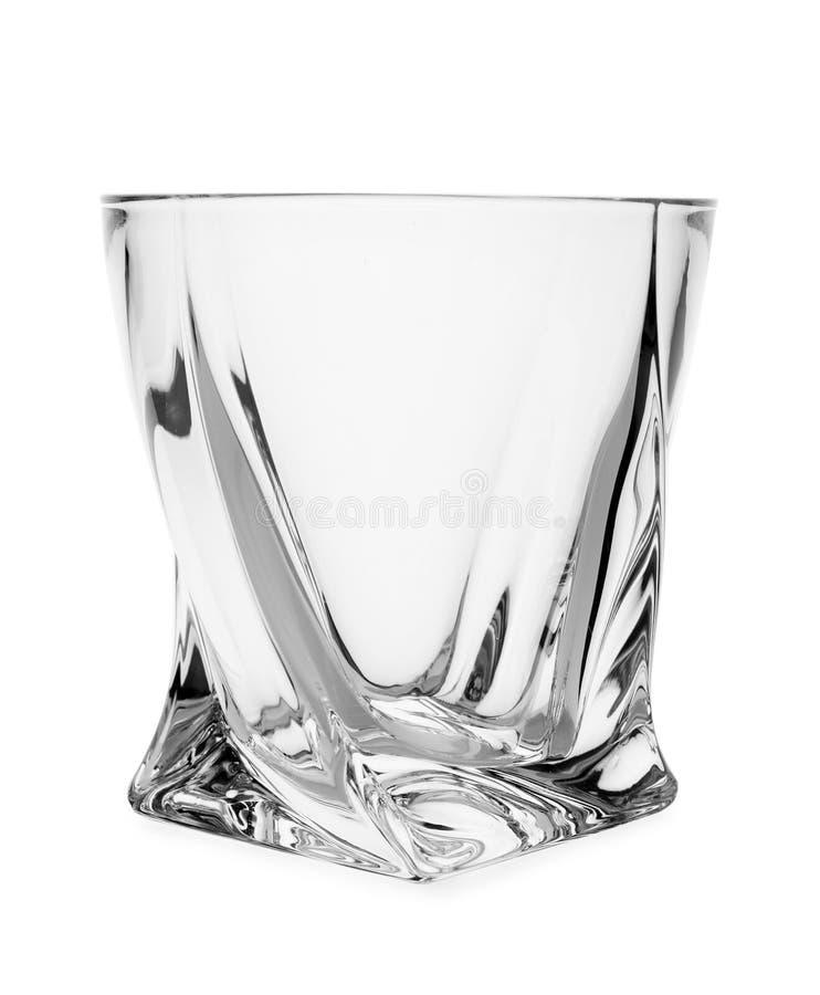 La radura vuota lowball il vetro su bianco immagini stock