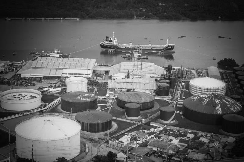La raffinerie de en Thaïlande images stock