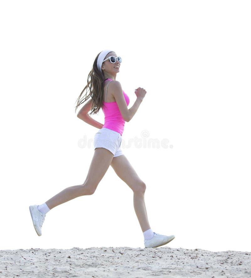 La ragazza è impegnata negli sport che pareggiano immagini stock