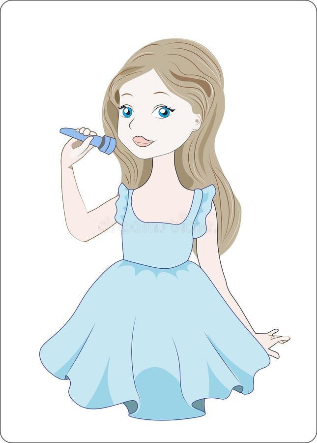 La ragazza canta royalty illustrazione gratis