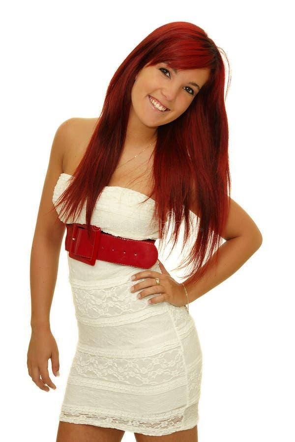 La ragazza con capelli rossi immagini stock