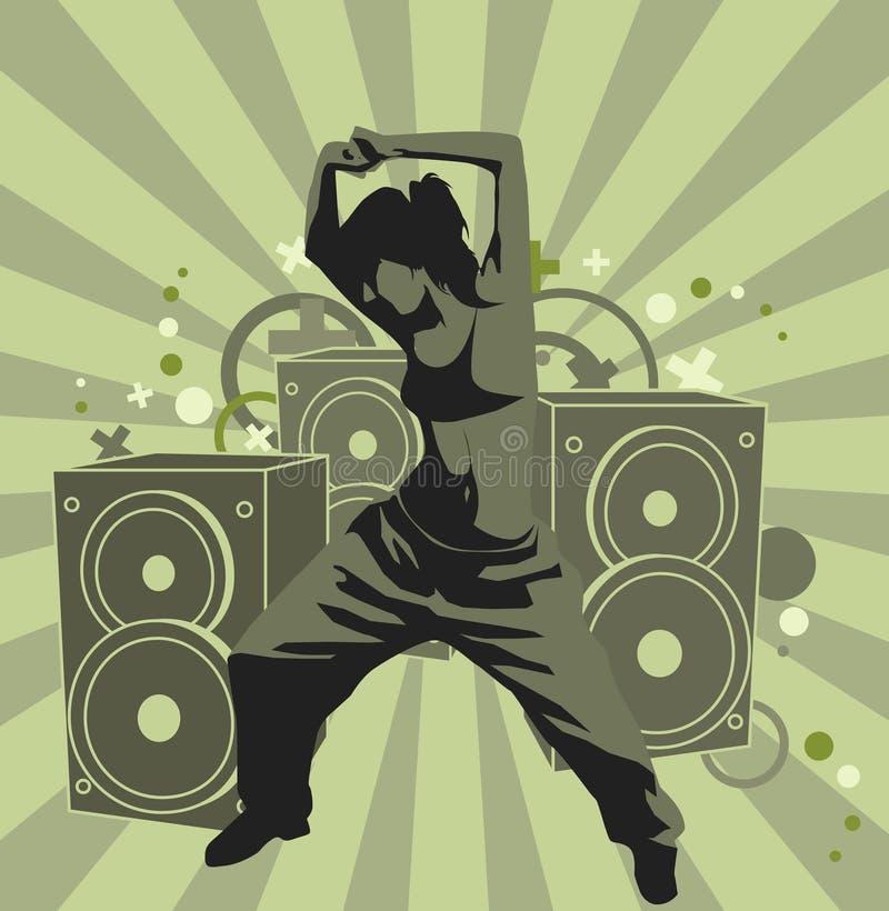 La ragazza di dancing fotografia stock libera da diritti