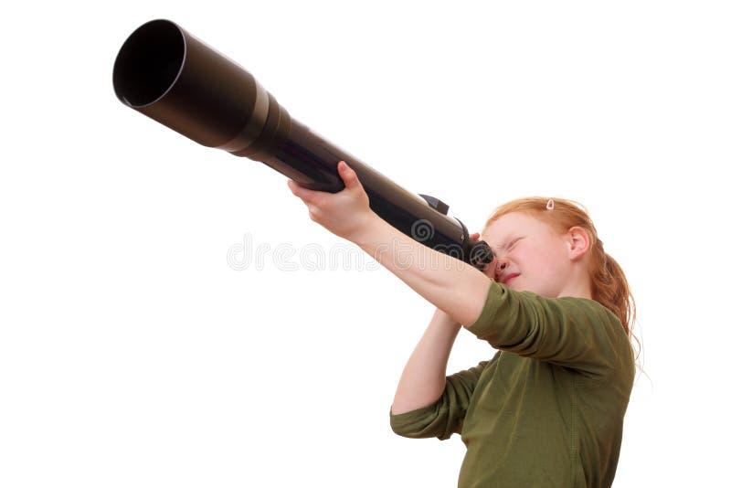 Ricerca della ragazza fotografia stock libera da diritti