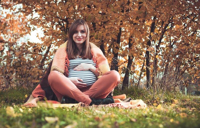 La ragazza incinta immagine stock