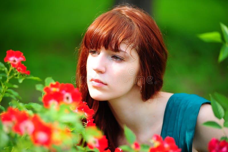 La ragazza red-haired fotografia stock