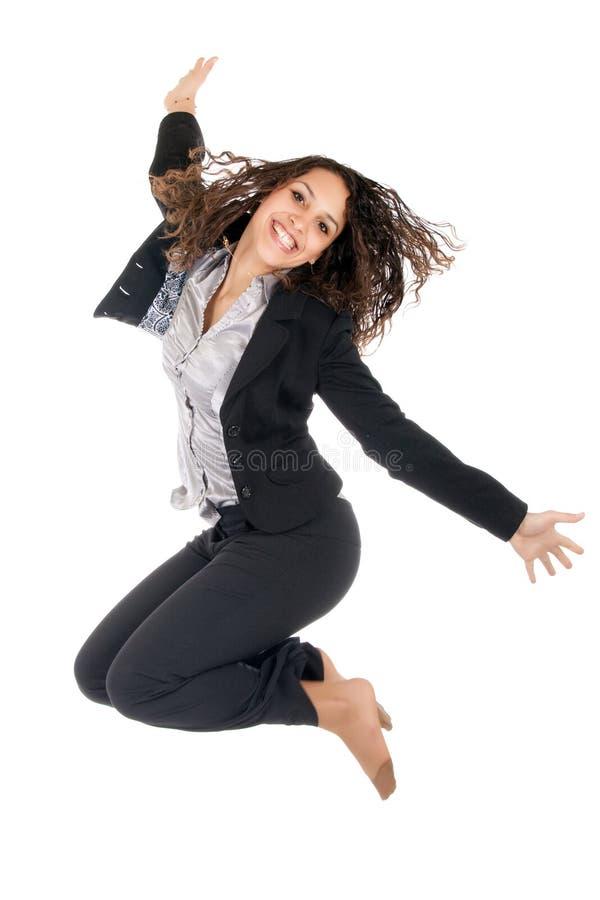 La ragazza salta fotografia stock libera da diritti