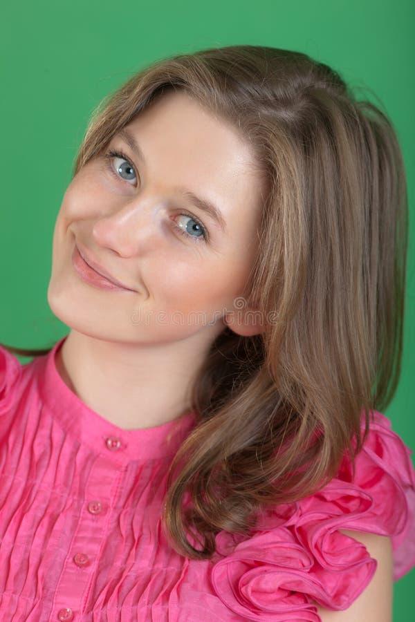 La ragazza in una camicetta dentellare immagine stock libera da diritti