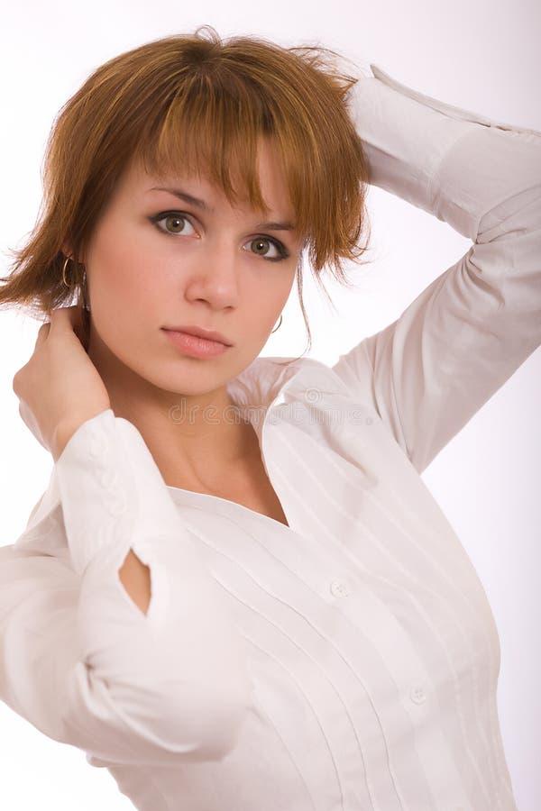 Download La Ragazza In Una Camicia Bianca Immagine Stock - Immagine di sincero, attraente: 7318417