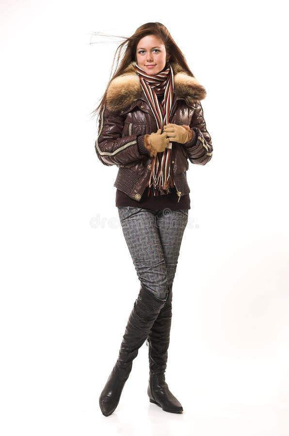 La ragazza in vestiti di inverno immagine stock libera da diritti