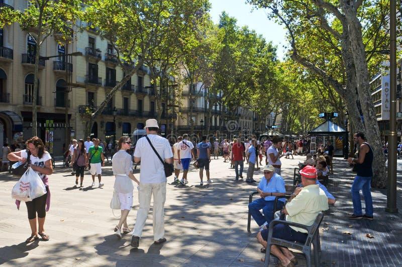 La Rambla, à Barcelone, l'Espagne images stock
