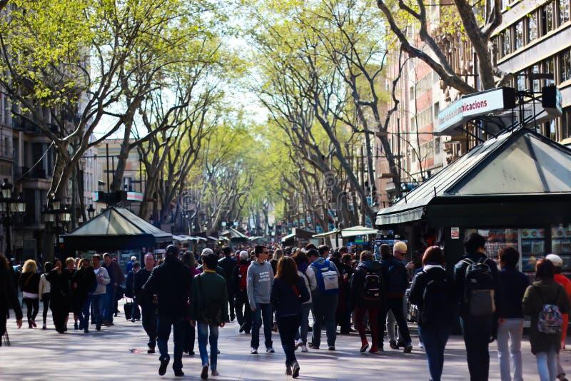 La Rambla, Barcellona fotografia stock libera da diritti