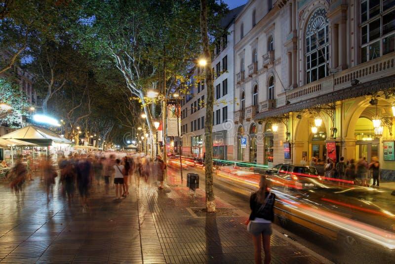 La Rambla, Barcelona, Spanje stock foto's