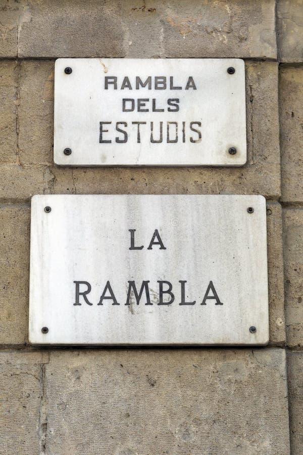 La Rambla stock fotografie
