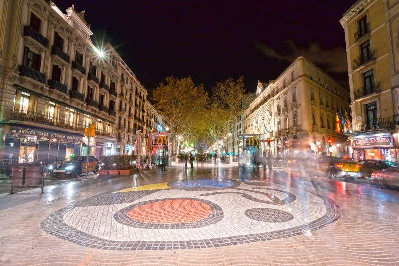 La rambla di Barcellona, Spagna fotografie stock libere da diritti