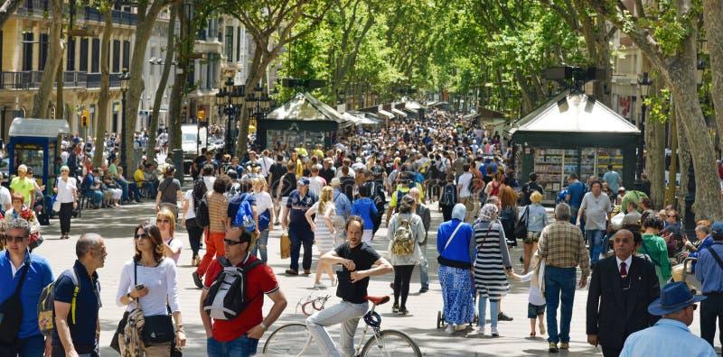 La Rambla, em Barcelona, Spain foto de stock royalty free