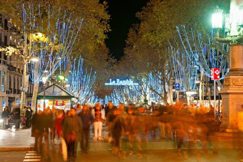 La Rambla van Barcelona, Spanje royalty-vrije stock foto