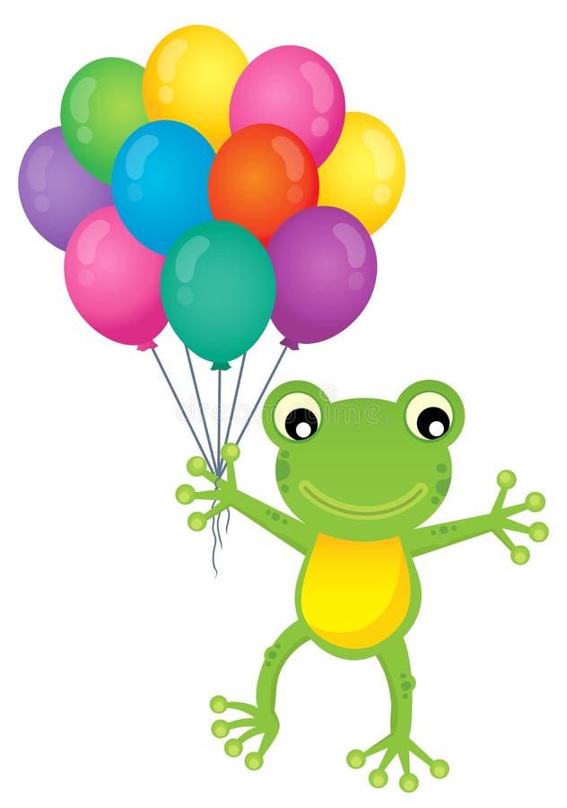 La rana con el partido hincha la imagen 1 del tema stock de ilustración