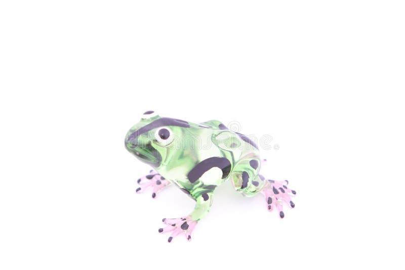 La rana ha fatto a mano da vetro fotografie stock