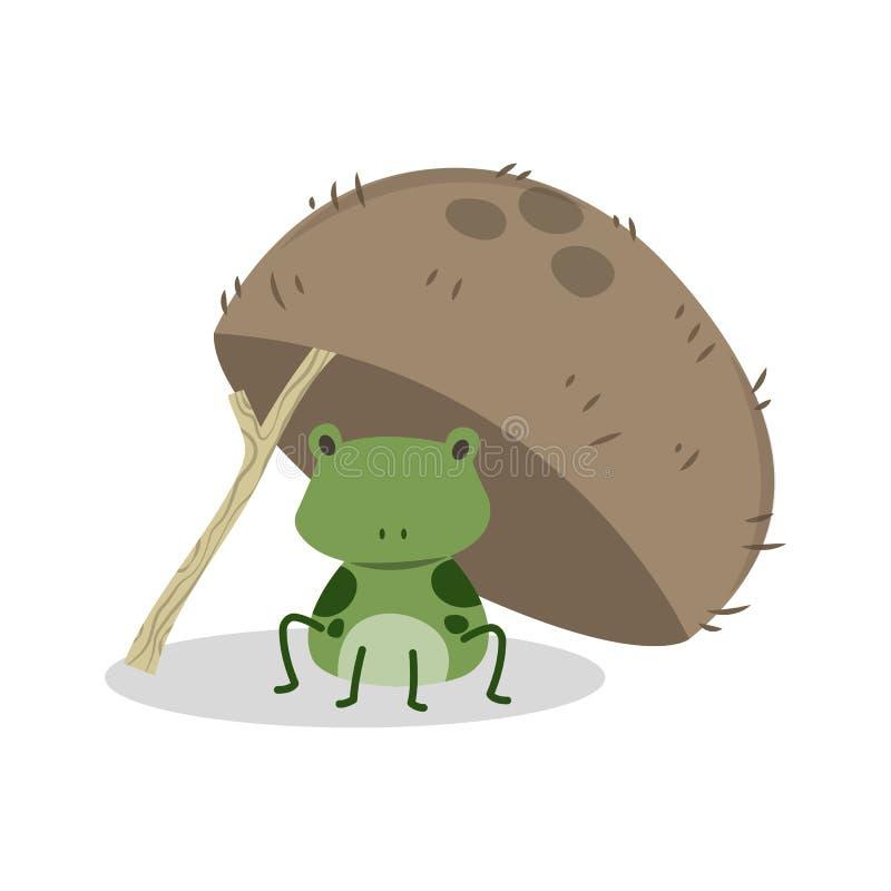La rana in noce di cocco Shell royalty illustrazione gratis