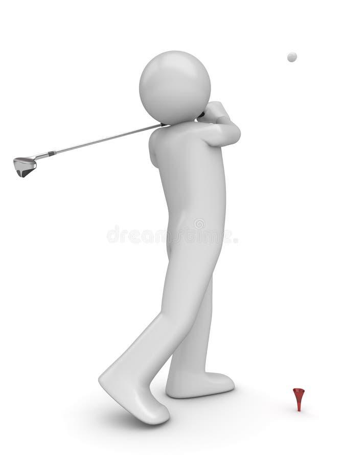 La rappe de Golfman images stock