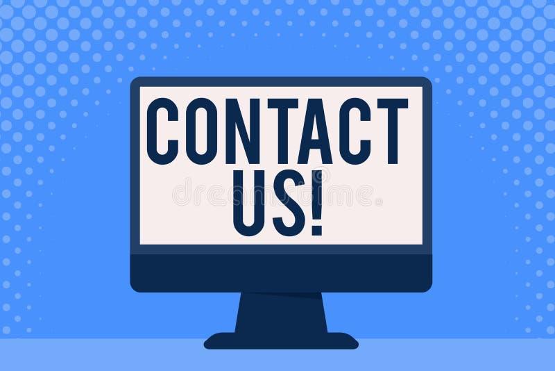La rappresentazione concettuale di scrittura della mano ci contatta Foto di affari che montra gli individui privati o informazion royalty illustrazione gratis