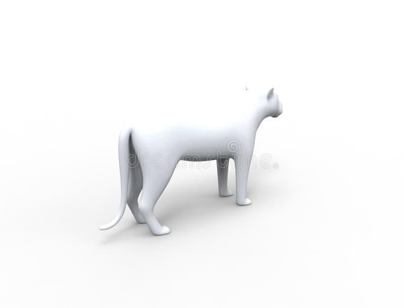 la rappresentazione 3d di una siluetta del leone è fondo dello studio di insolazione illustrazione di stock